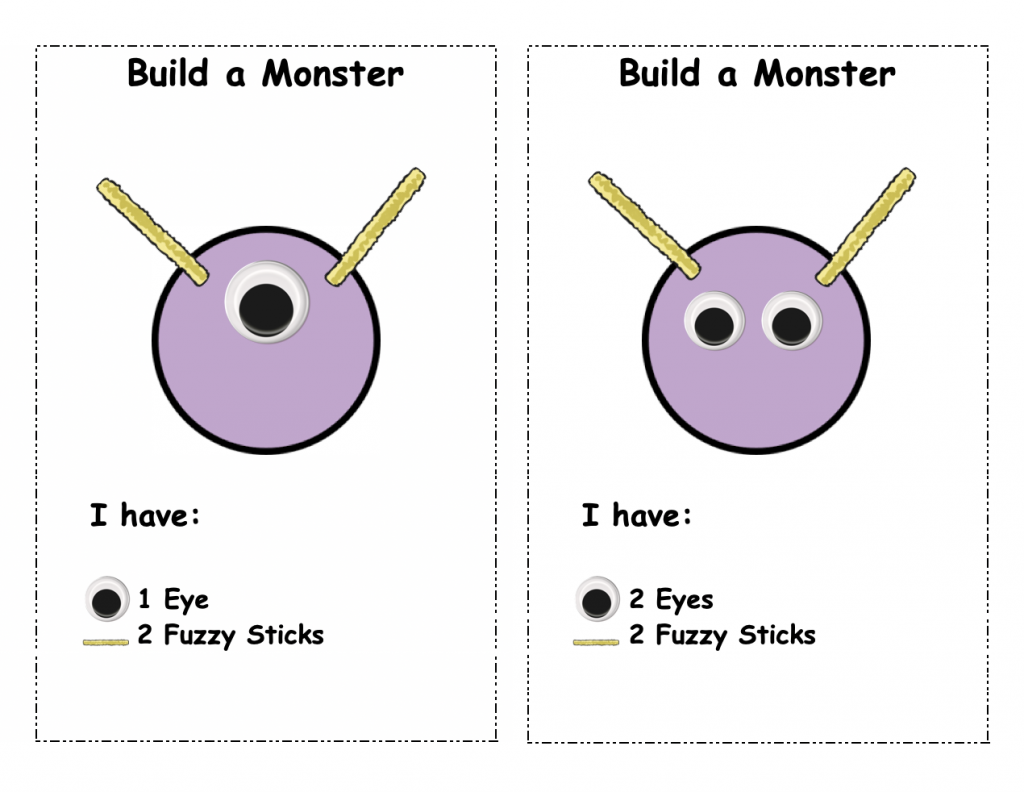 Build a Monster: Play Doh Card