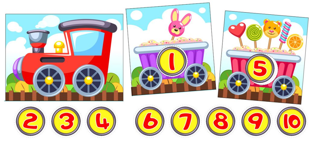 Printable Number Matching Card Game With Train Cars