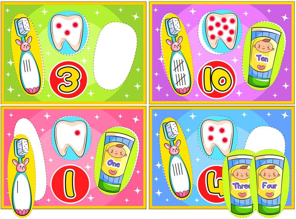 Dental Printable Math Activity