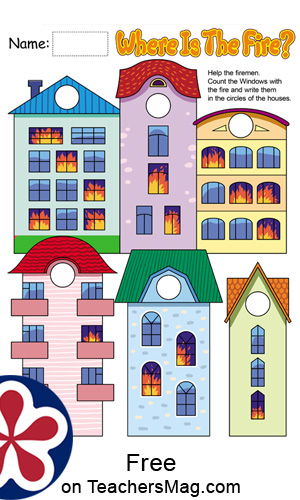 Fireman Worksheets for Preschool
