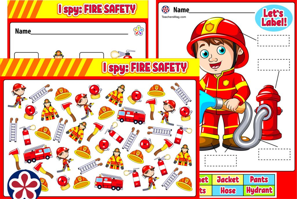 Fire Safety-Focused Worksheets for Kids
