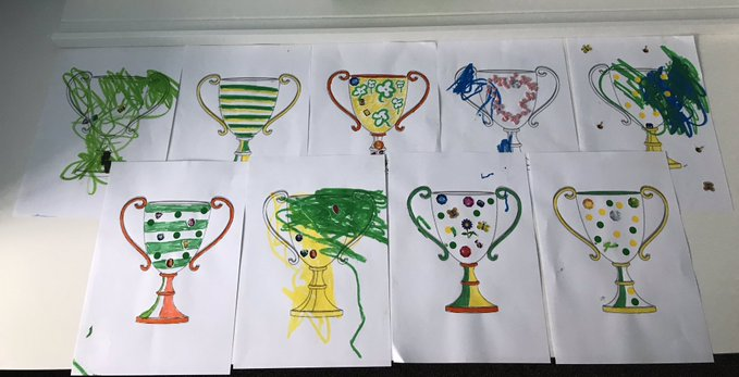Paper Trophy Creation and Decoration Activity for Kids