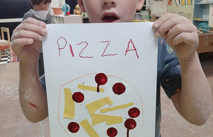 Pizza Craft for Preschoolers
