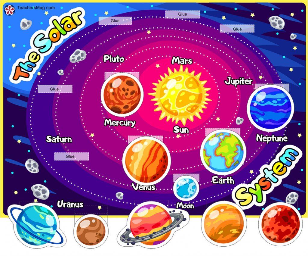 Solar System Printable Worksheet for Children