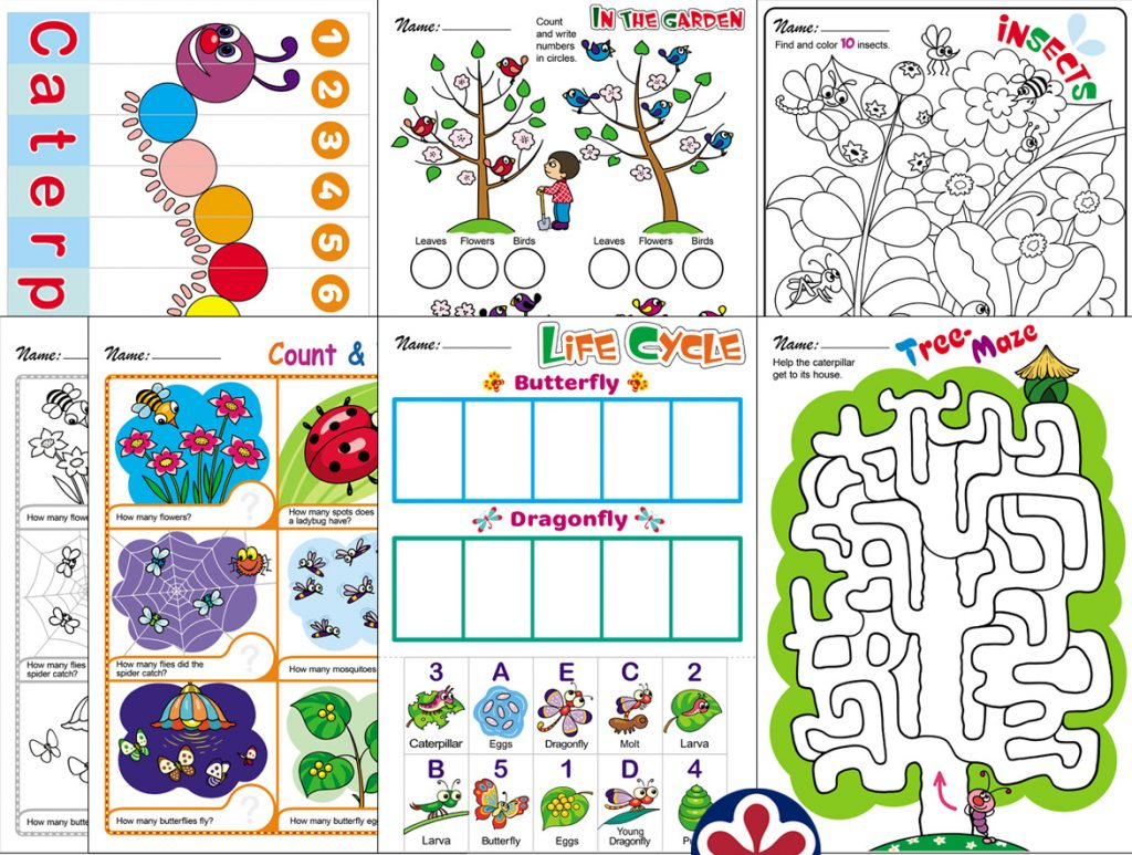 Spring-Themed Worksheets With Insects!