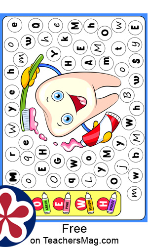 Letter-Matching Magnet Activity for Preschool Students
