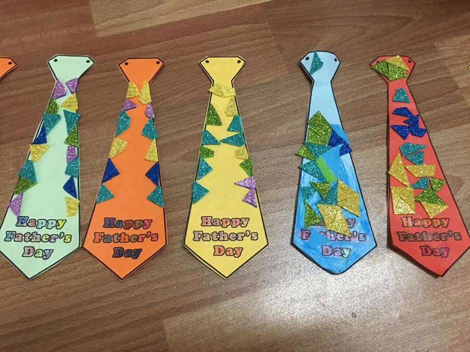 Father's Day Arts and Crafts Tie Activity for Preschoolers
