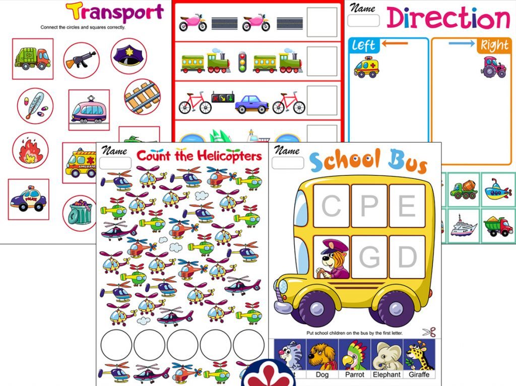 Transportation-Themed Worksheets
