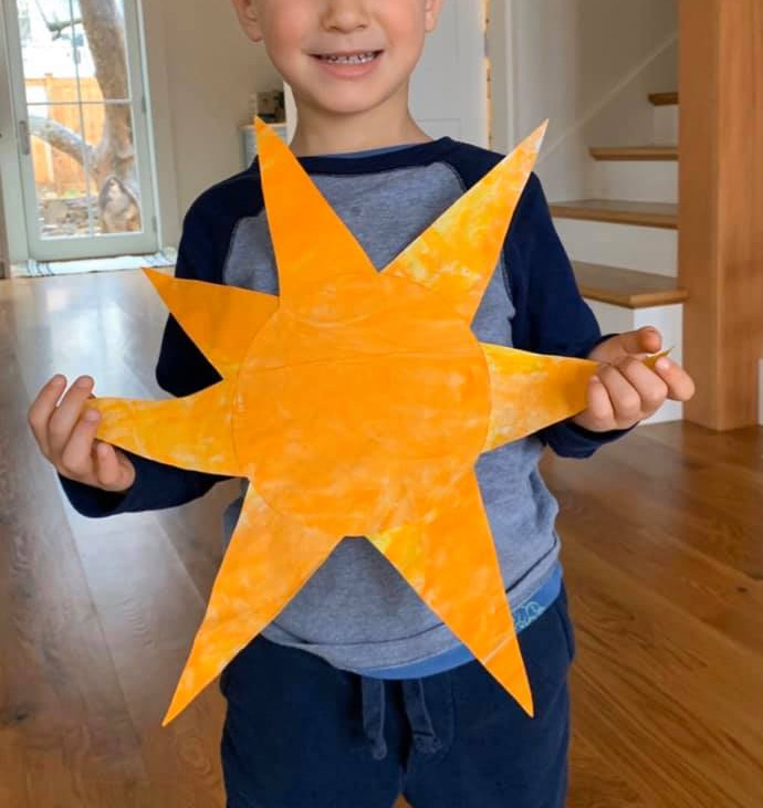 Sun Creation Craft for Kids