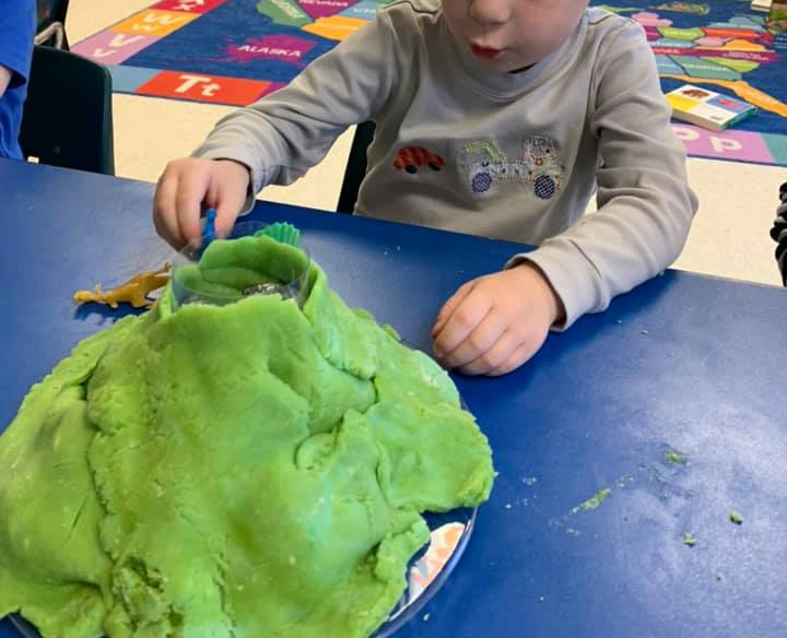 Building Play-Doh Volcanoes For Kids