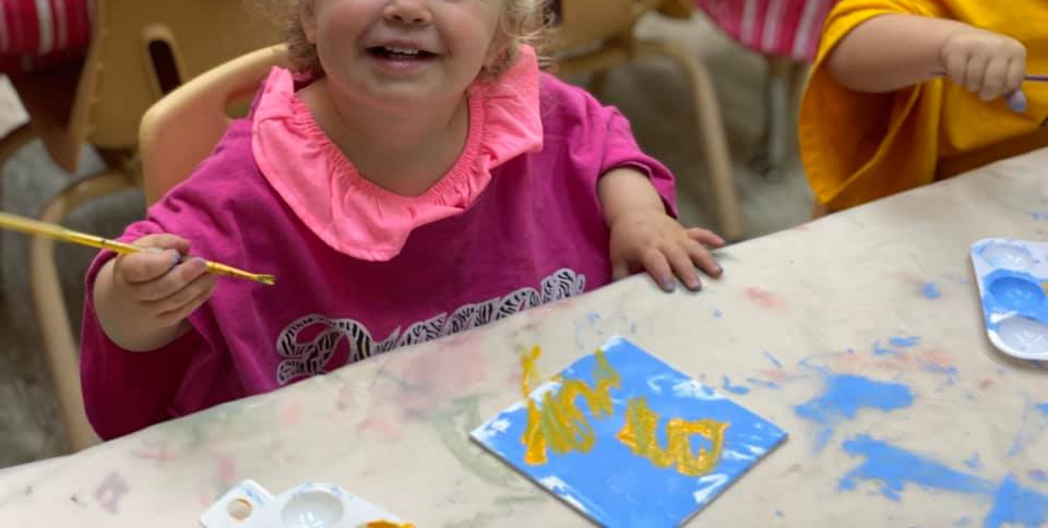Sunshine Painting Activity for Toddlers