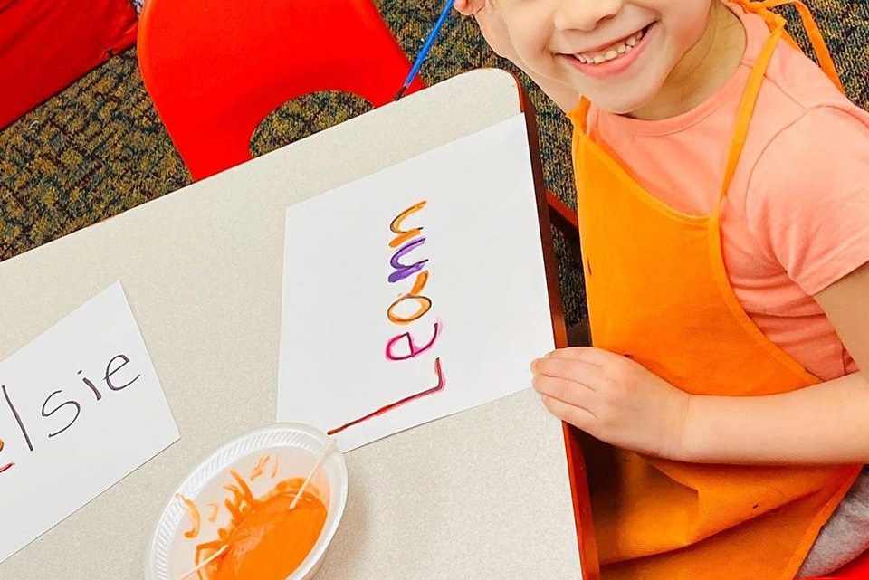 Name-Painting Activity For Young Children