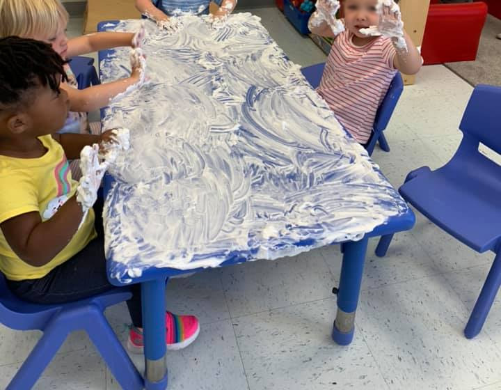 Shaving Cream Shape Drawing for Toddlers