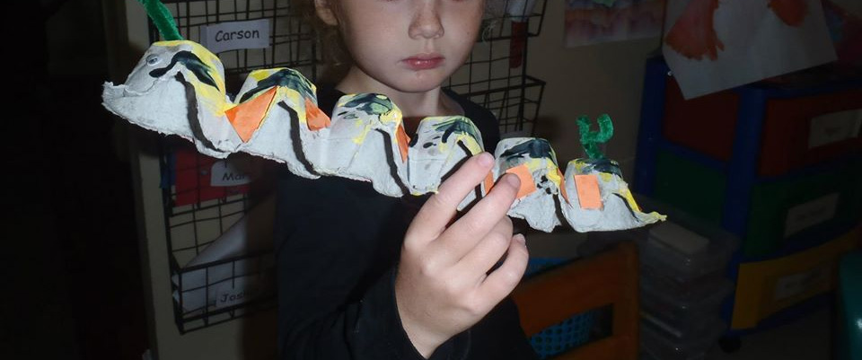 Egg Carton Caterpillar Activity