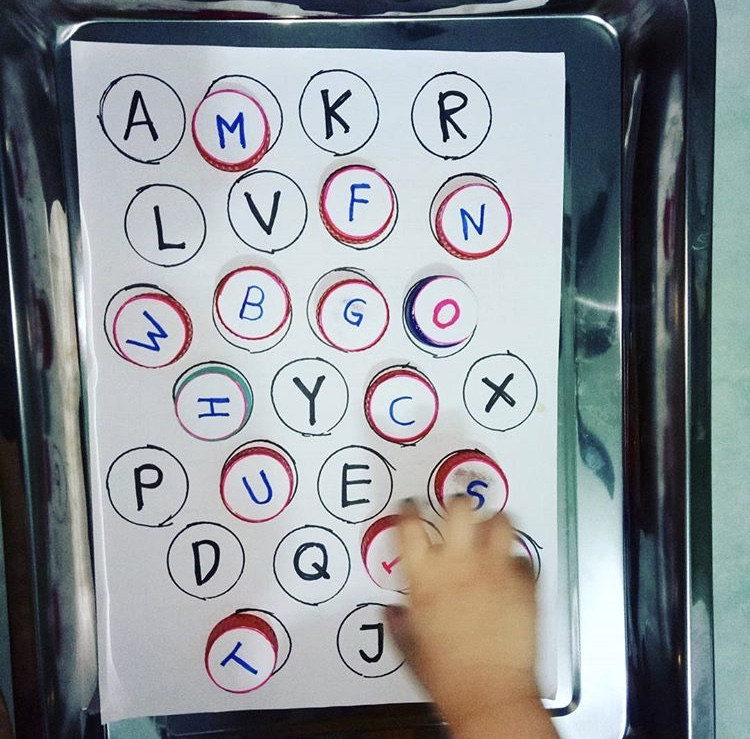 Learning Alphabet with Bottle Cap