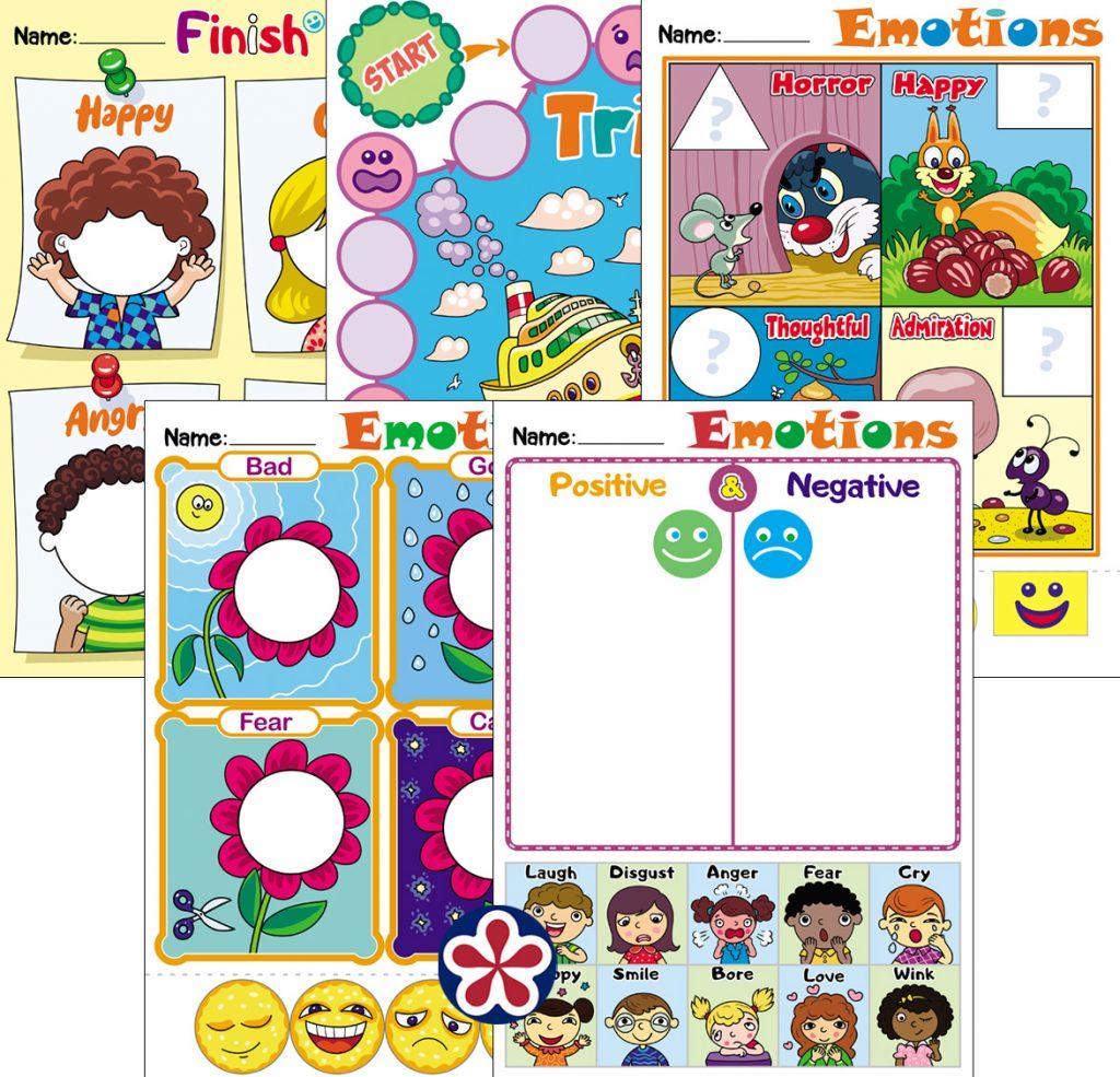 Emotion-Themed Worksheets for Kids