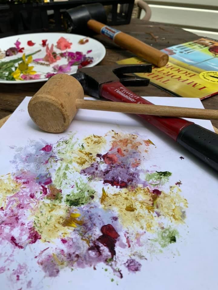 Flower Pounding Art Activity