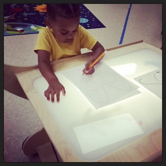 Light Table Tracing Fun for Kids