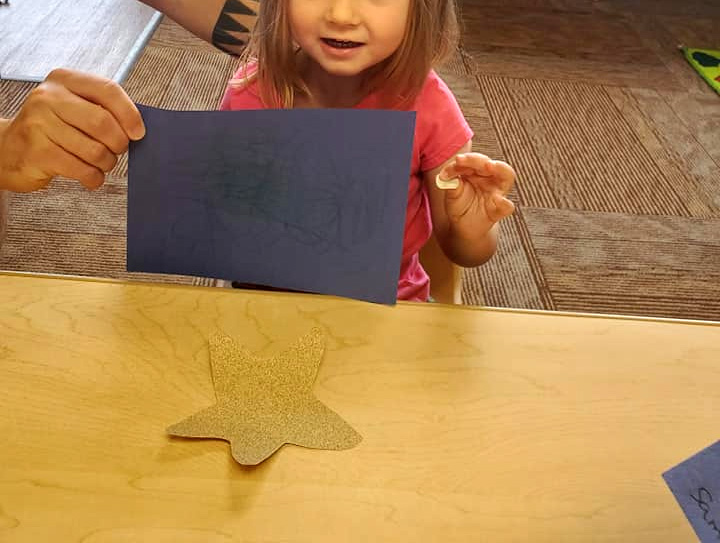 Sandpaper Starfish Craft