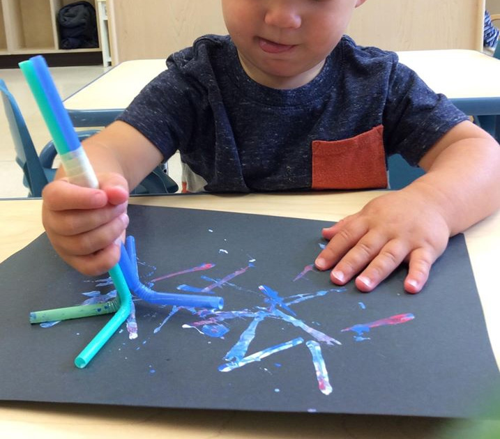Firework Paint Stamping Activity For Kids