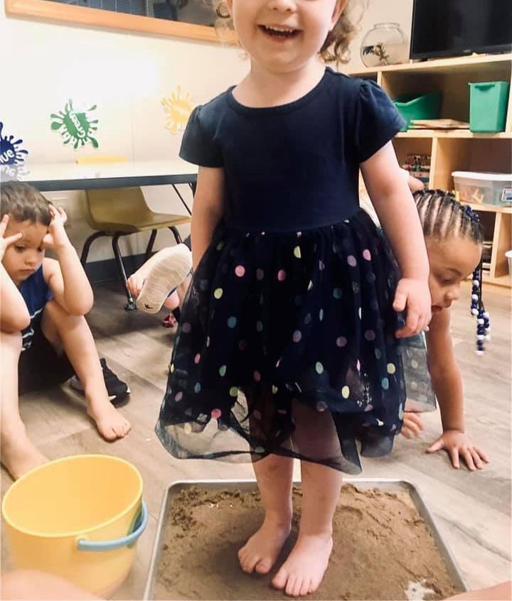 Wet Sand Sensory Bins