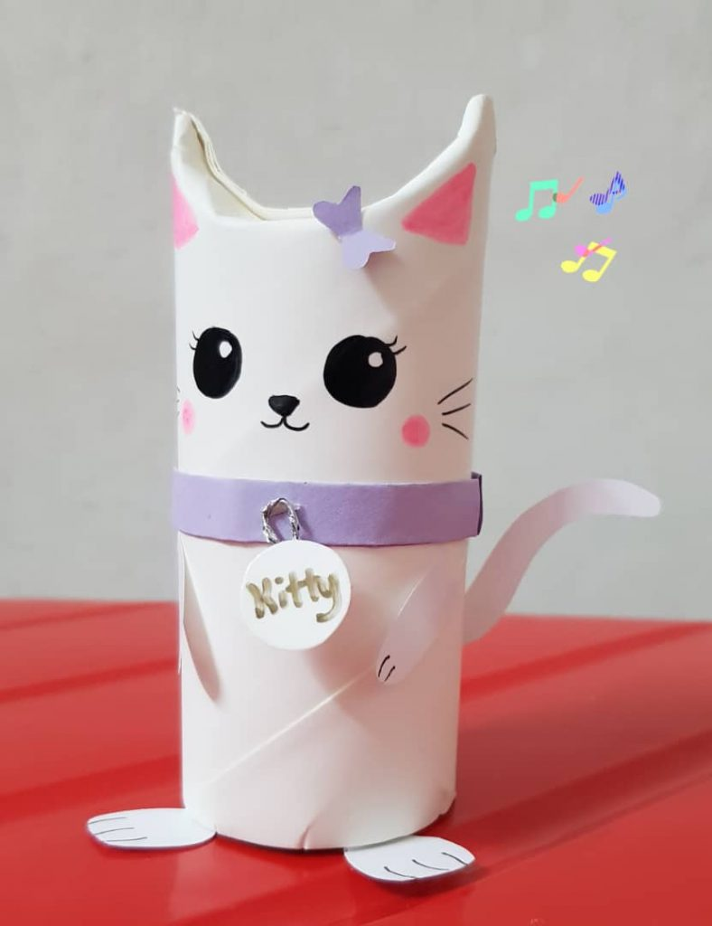 Paper Roll Kitty Craft