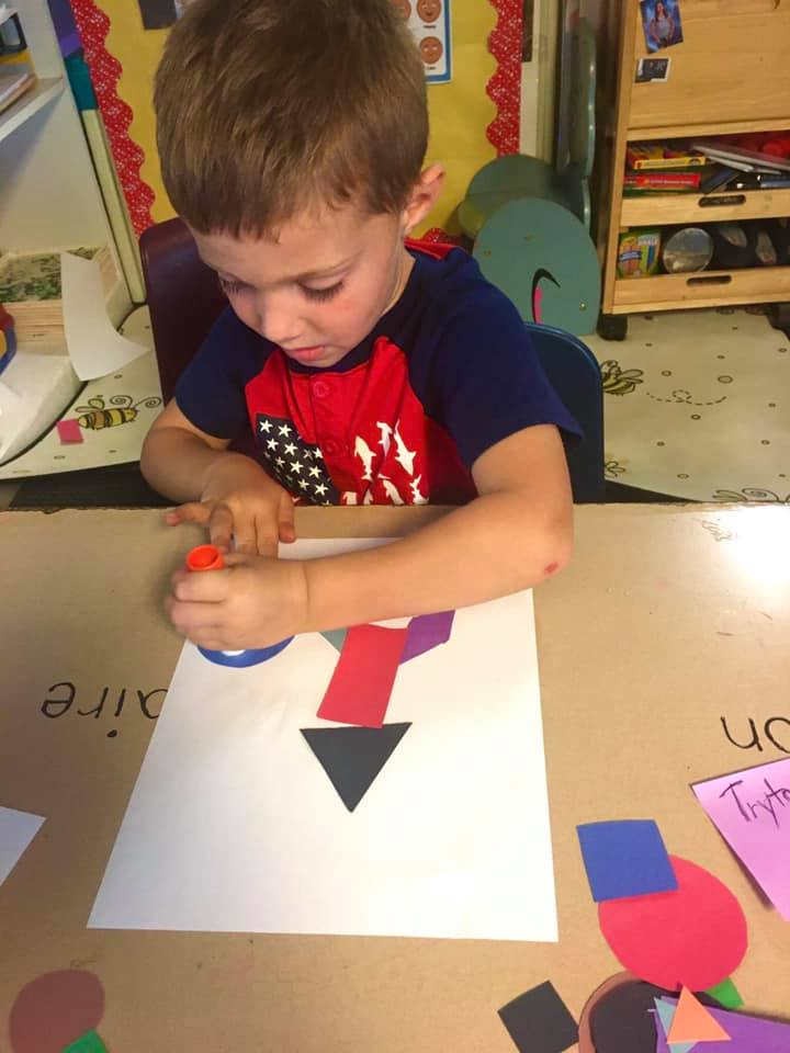 Making a Picture out of Shapes Art Activity