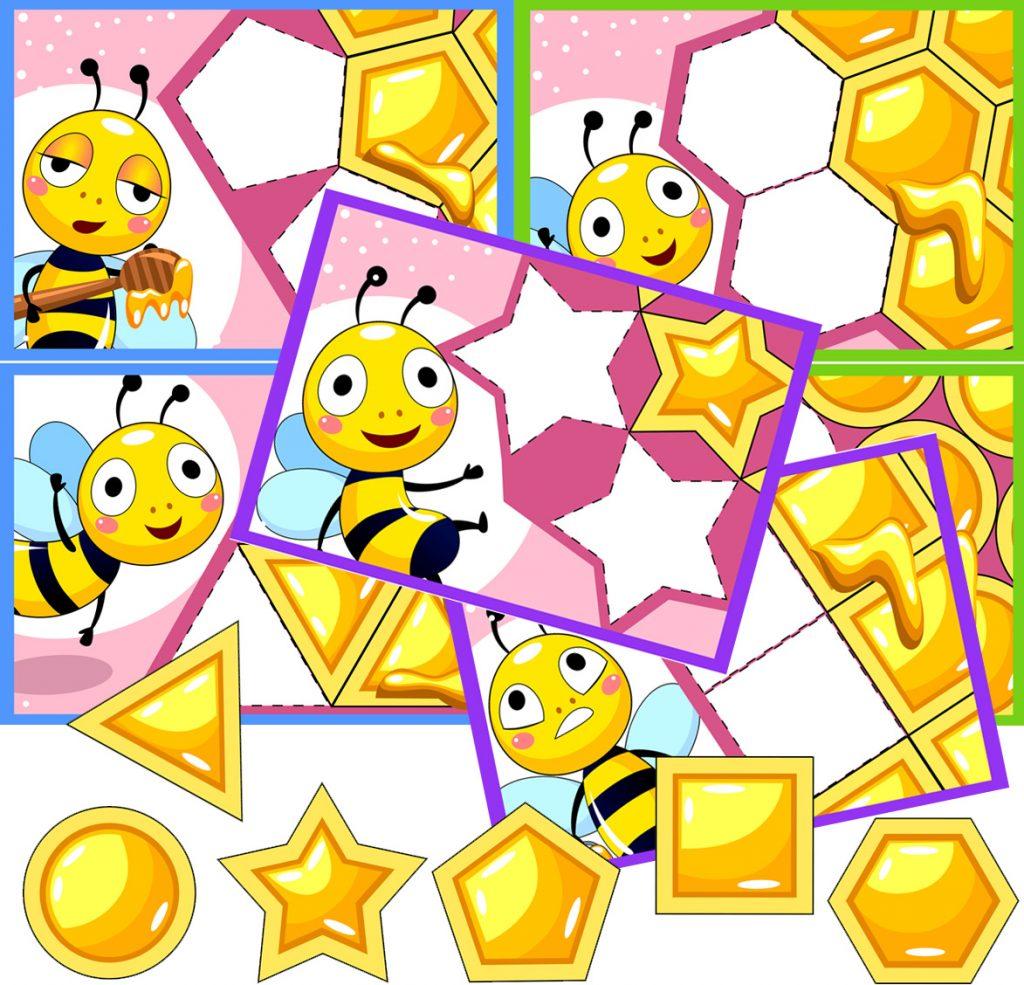 Bee Honeycomb Shape Matching