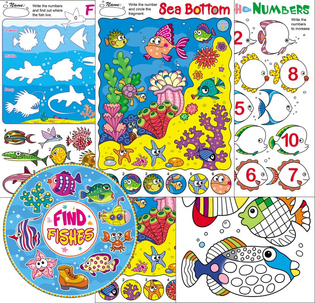 Worksheets with Fish