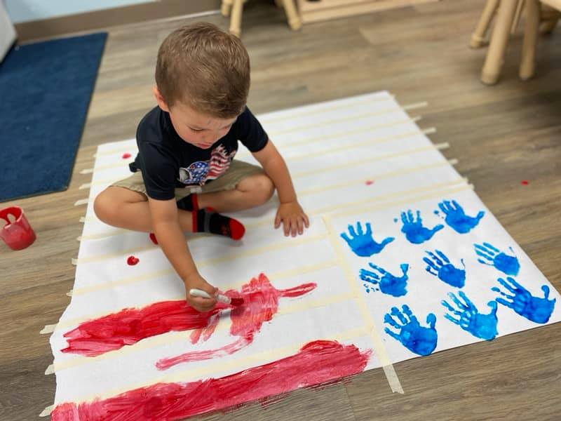 American Flag-Themed Painting Activity