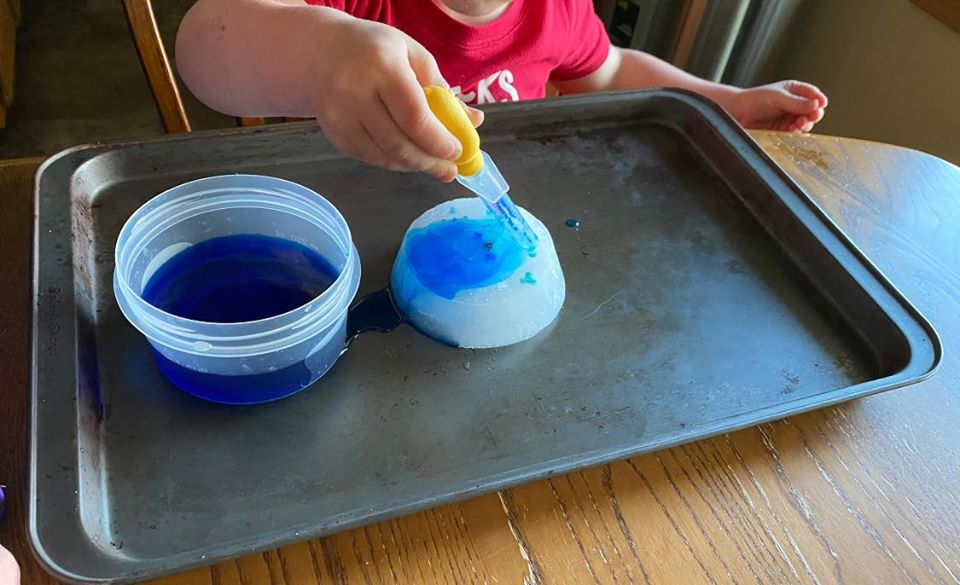 Colorful Ice Melting Activity for Kids