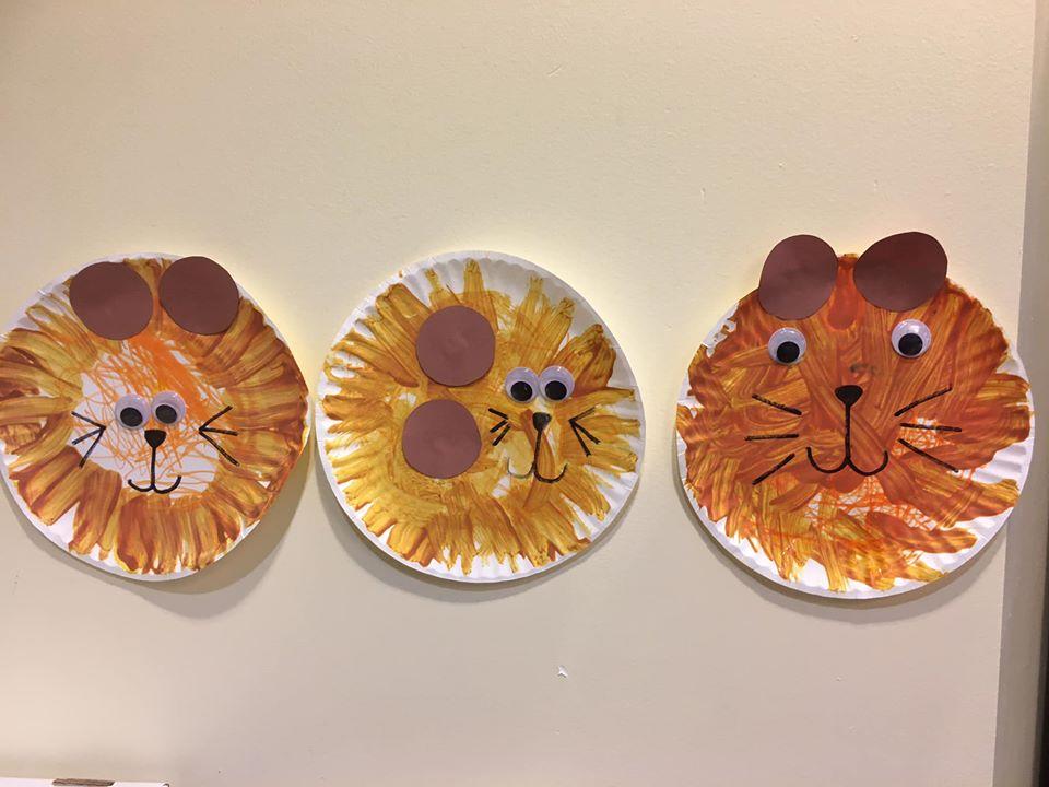 Paper Plate Lion Craft