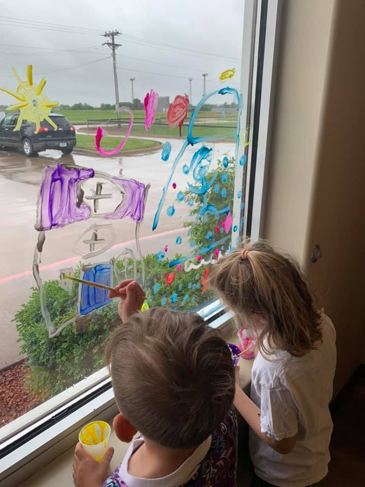 Window Painting Activity for Kids