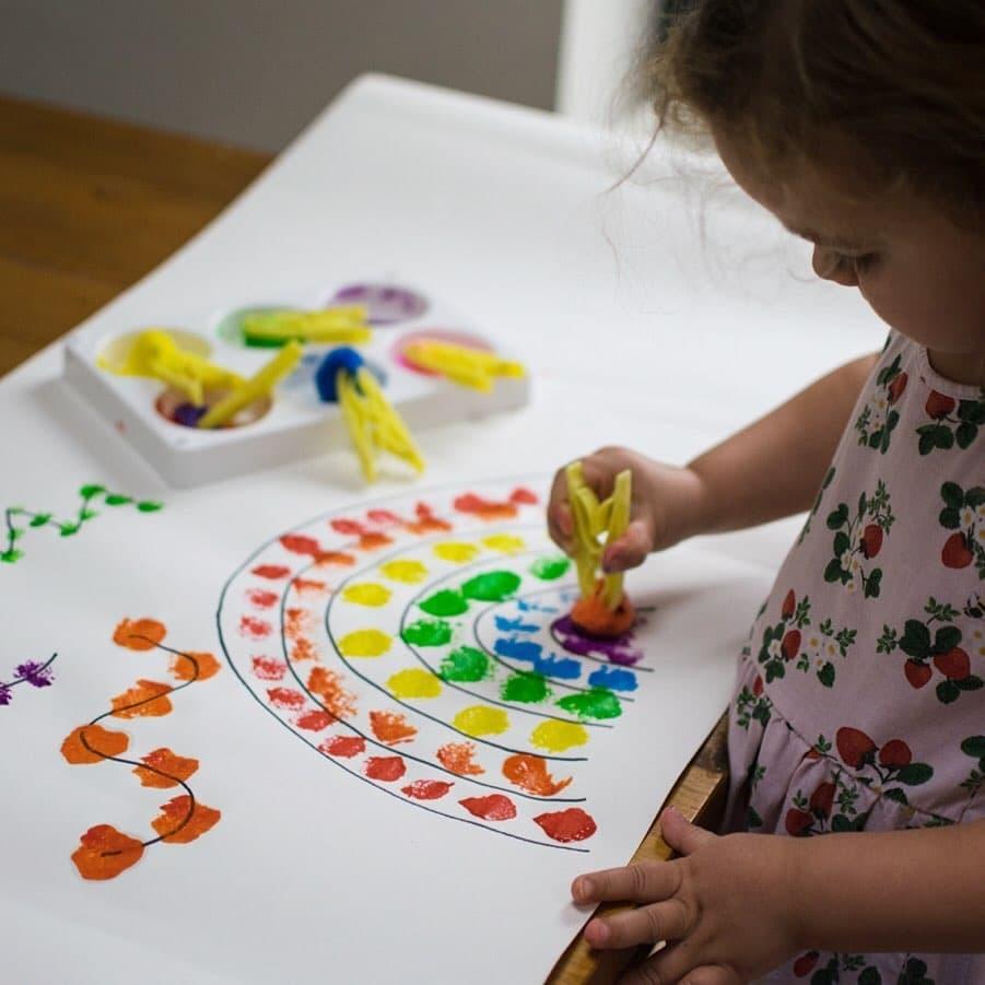 Pom-Pom Painting Activity