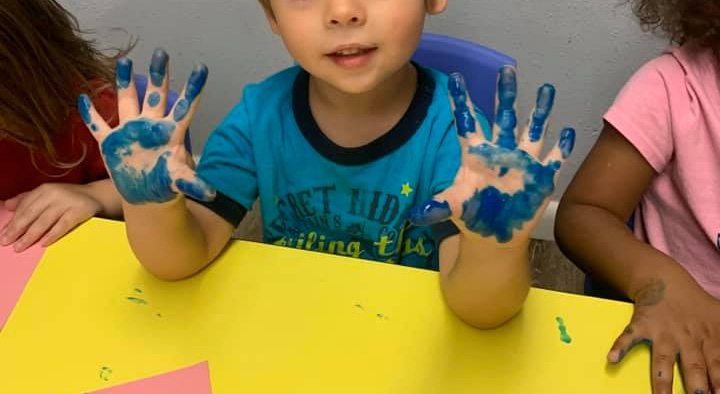 Finger-painting for Little Ones