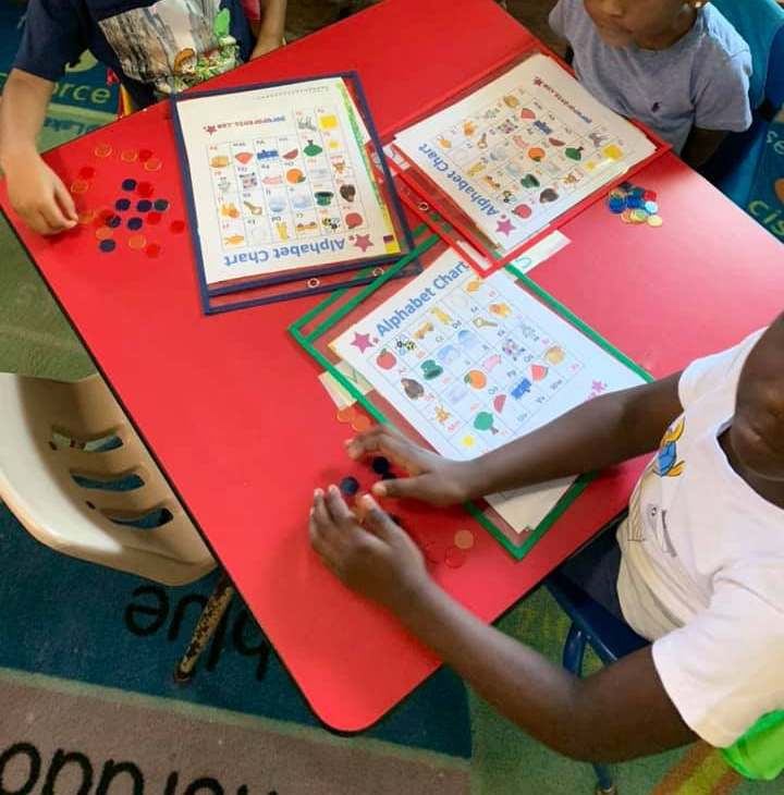 Learning the ABCs With Bingo and Name-Tracing