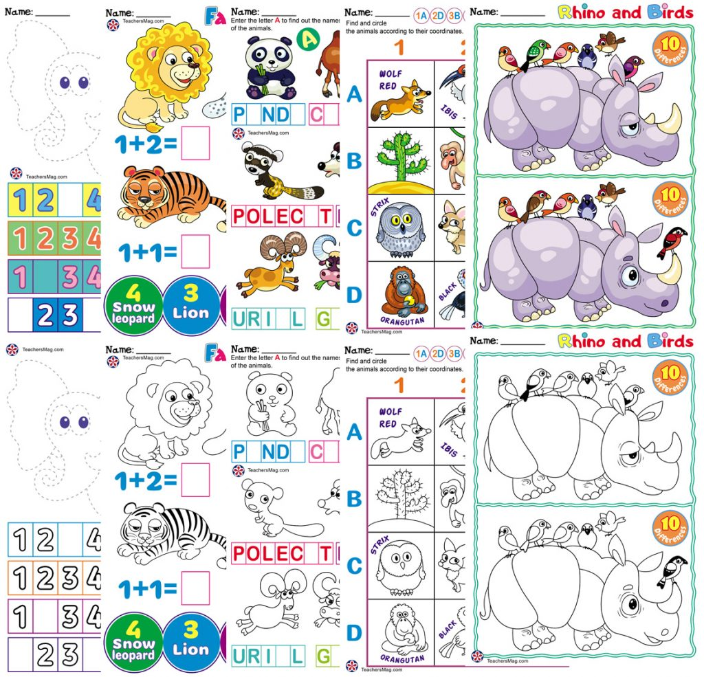 Asian Animals Worksheets