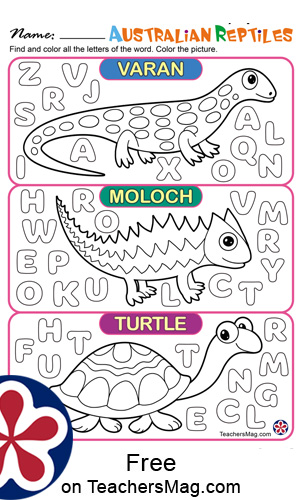 Animals of Australia Worksheets