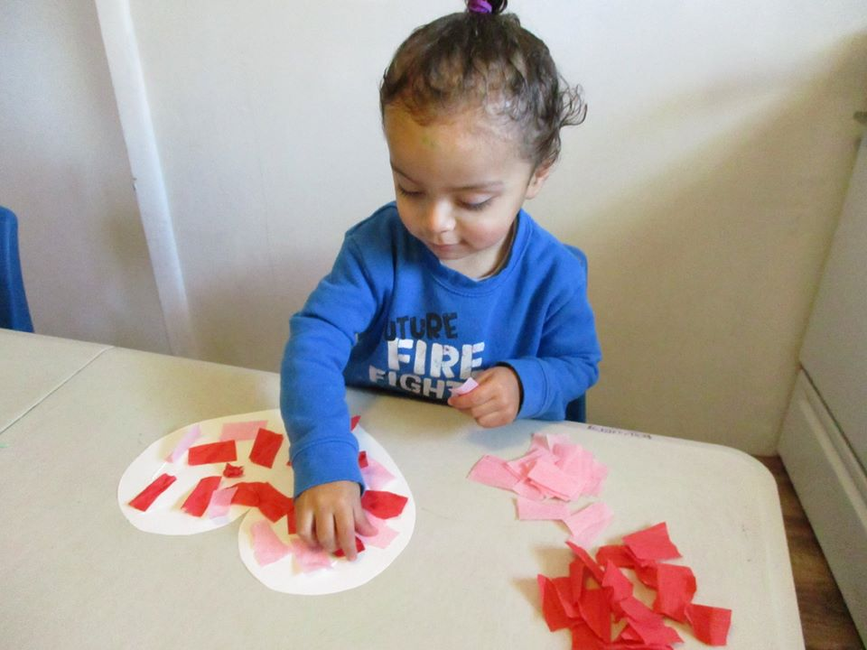 Construction and Crepe Paper Hearts
