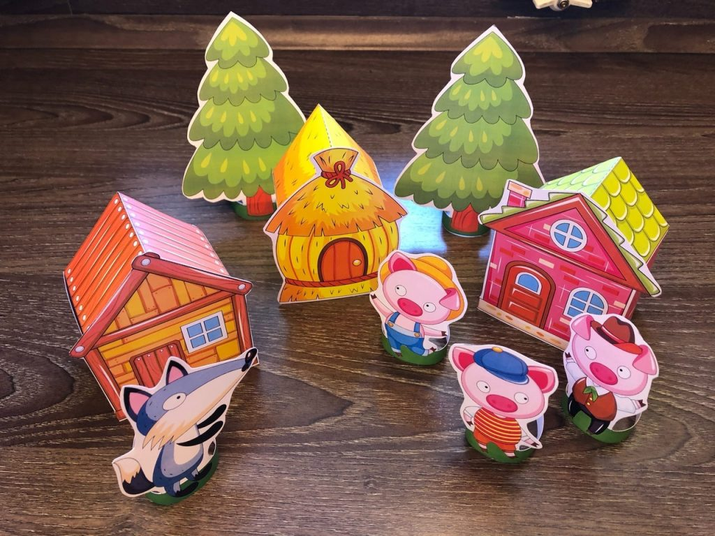 Three Little Pigs Paper Standees (Houses Template)